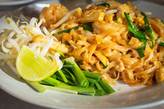Pad Thai,fried noodle with tofu. Royalty Free Stock Photos