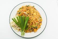 Pad Thai isolate on white, Thai Food. Royalty Free Stock Photo