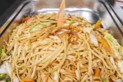 Pad Thai meal at a chinese restaurant buffet Stock Image
