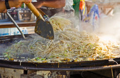 Pad Thai noodle. Pad Thai is a kind of Chinese noodle which adapt to Thai cuisine Royalty Free Stock Images