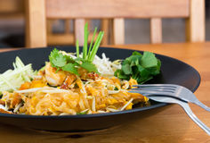 Pad Thai noodle with shrimp Stock Photography