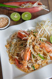 Pad thai noodle Stir fry noodles in thai food style healthy conc Stock Photo