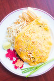 Pad thai noodles Royalty Free Stock Images