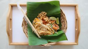 Pad Thai Noodles Thai Food. Stock Photo