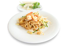 Pad Thai noodles with Shrimp Royalty Free Stock Photo