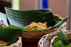 Pad Thai Noodles Thai Food. Royalty Free Stock Photography