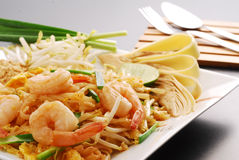 Pad Thai. The popular Pad Thai (fried noodle with peanut sauce Stock Photography