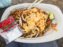 Pad Thai. Is a popular street food in Thailand Royalty Free Stock Photography