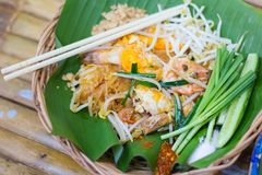 Pad Thai is popular in Thailand. royalty free stock photography