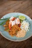 Pad Thai prawn. Royalty Free Stock Photo