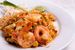 Pad Thai Shrimp Stock Photos