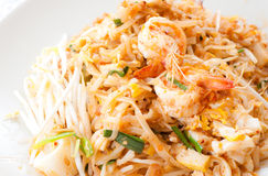 Pad thai with shrimp. Thai noodle style called pad thai with shrimp Stock Images