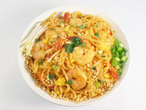 Pad Thai & Shrimp Royalty Free Stock Images