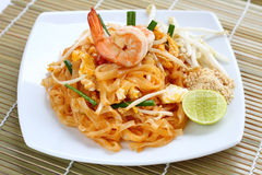 Pad thai shrimp. Stock Images