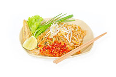 Pad thai Shrimp, Thai style noodles Royalty Free Stock Images