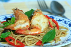 Pad Thai Spaghetti Royalty Free Stock Images