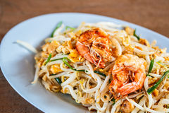 Pad Thai; Thai cuisine food Royalty Free Stock Photo