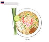 Pad Thai or Thai Stir Fried Noodles Stock Photo