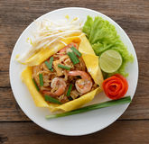 Pad thai. Thai style noodles Royalty Free Stock Photos