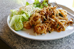 Pad thai - thailand traditional stir fry noodle. Pad thai - thailand traditional stir fry rice noodle with shrimp, sprout,tofu Stock Images