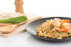 Pad thai, Thia food Royalty Free Stock Photos