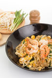 Pad thai, Thia food Stock Photos
