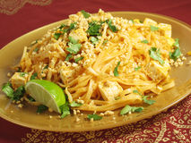 Pad Thai and Tofu Stock Images