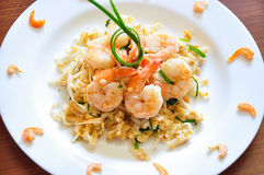 Pad Thai. The traditional Pad Thai noodles. The most famous Thai food stock images