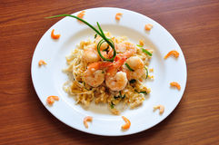 Pad Thai. The traditional Pad Thai noodles. The most famous Thai food royalty free stock images