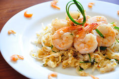 Pad Thai. The traditional Pad Thai noodles. The most famous Thai food stock image