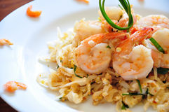 Pad Thai. The traditional Pad Thai noodles. The most famous Thai food stock photography