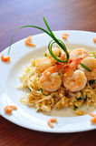 Pad Thai. The traditional Pad Thai noodles. The most famous Thai food royalty free stock photos
