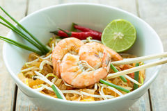Pad thai. Traditional thailand food Stock Photography