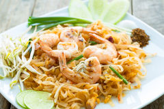 Pad thai. Traditional thailand food Stock Images