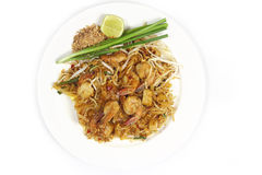 Pad Thai view top Stock Photos