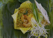 Pad thai wrapped in egg Stock Image