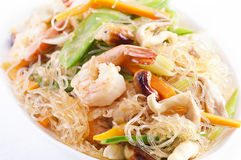 Pad woon. Sen with shrimps Royalty Free Stock Images