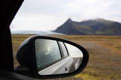 Padać dzień na obwodnicie w Iceland zdjęcie stock