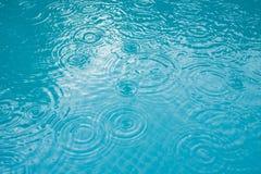 Padać wod krople Obrazy Stock