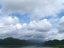 Padać, góra i jezioro, Obraz Stock