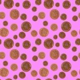 Padać Szczęsliwe monety Fotografia Royalty Free