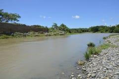 Padada-Miral rzeka przy Lapulabao, Hagonoy zdjęcie royalty free
