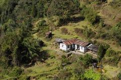 Padamchen village, Sikkim. Padamchen village, top view, Sikkim Stock Photography