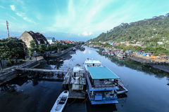 Padang city indonesia. Landscape view ship boat padang city indonesia Royalty Free Stock Photos