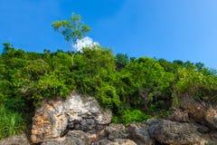 Padang Padang海滩,巴厘岛,印度尼西亚 免版税库存图片