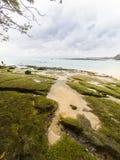 Padang padang beach after tide ocean Royalty Free Stock Image
