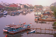 Padang traditional harbor Royalty Free Stock Images