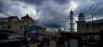 Padanglawas和乌云的首都 库存照片