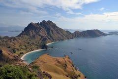 Padar海岛在印度尼西亚 免版税库存照片