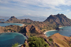 Padar海岛在印度尼西亚 免版税库存图片